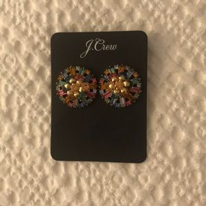 NWT J.Crew rainbow post earrings